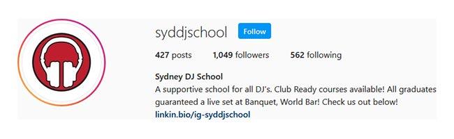 Instagram Sydney DJ School Image